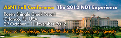 ASNT Fall Conference 2012