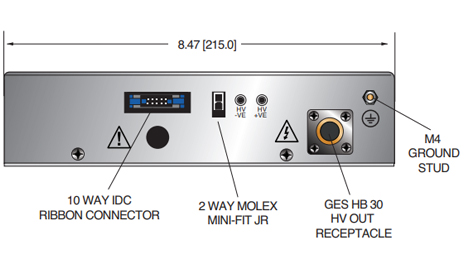 SpellmanHV MXR Series DC-DC Converters  Front View