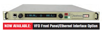 Now Available VFD Front Panel/Ethernet Interface Option
